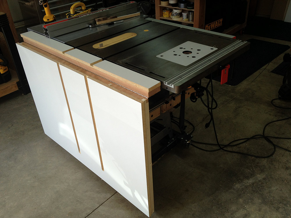 Just Finished New Outfeed Ts Table Woodworking Talk