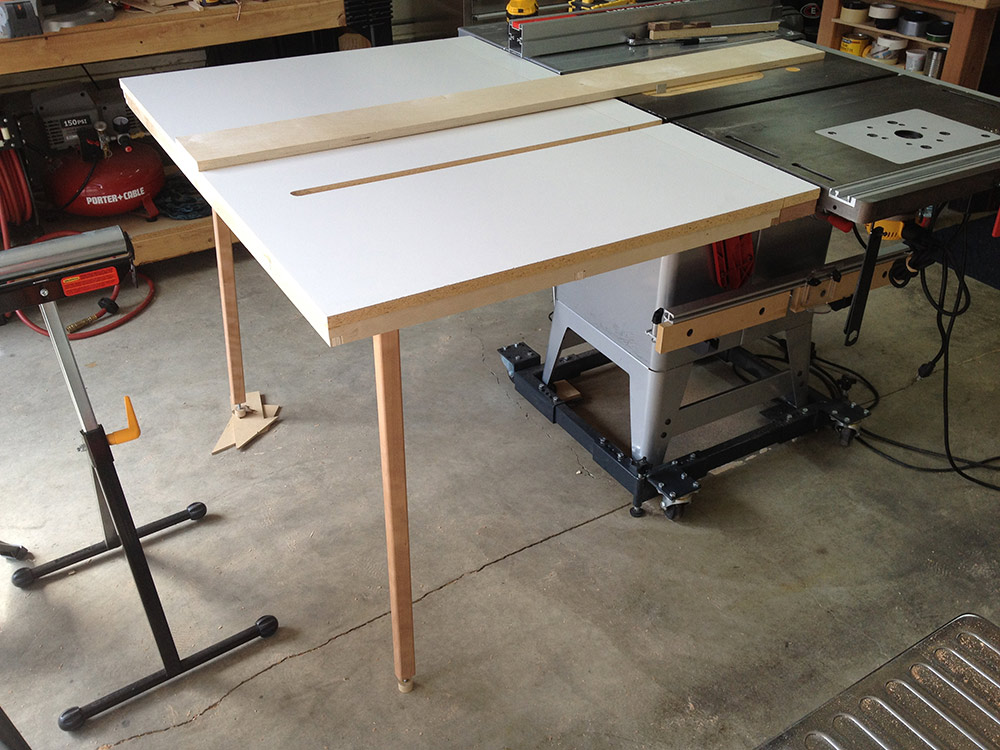 Just Finished New Outfeed Ts Table Woodworking Talk Woodworkers Forum